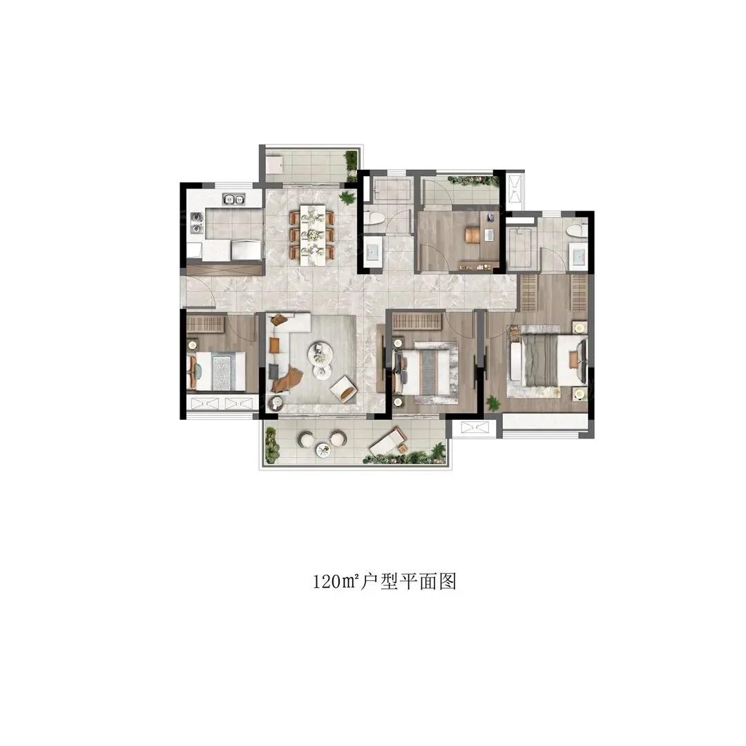 佛山南海新楼盘:奥园弘阳公园一号B户型