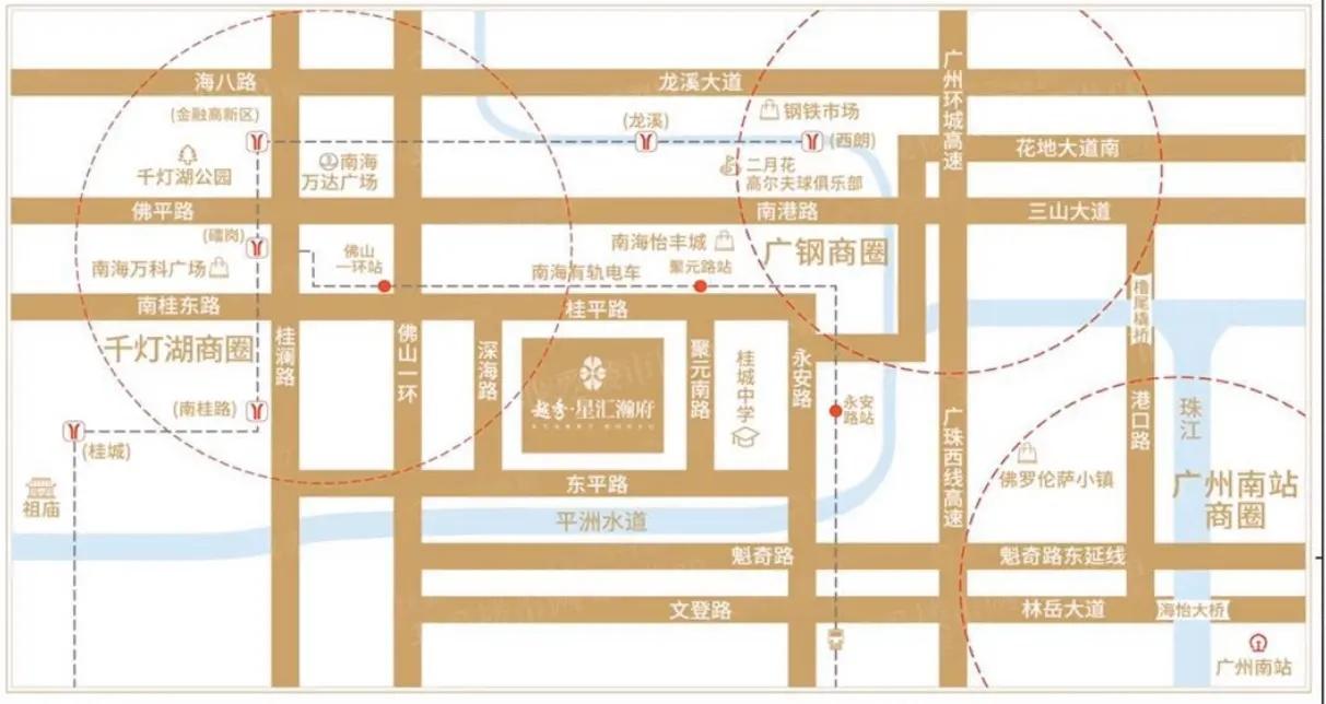 佛山新房:越秀星汇瀚府交通规划图