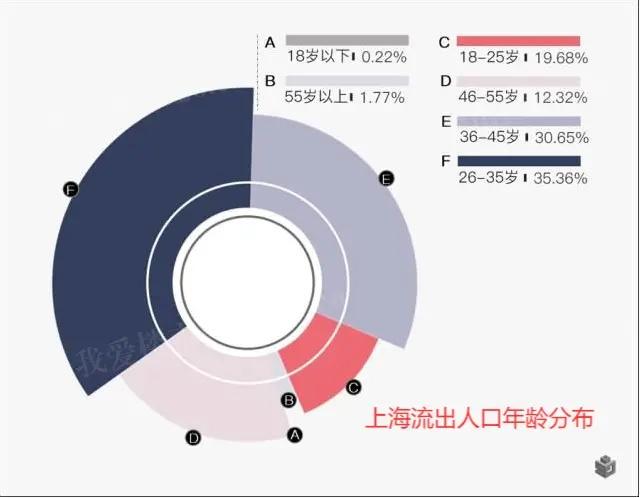 上海人口流出年龄分布