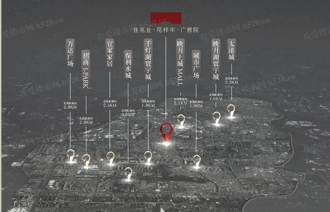 广雅院商业分布示意图