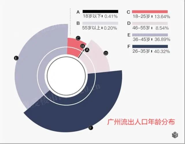 广州人口流出年龄分布