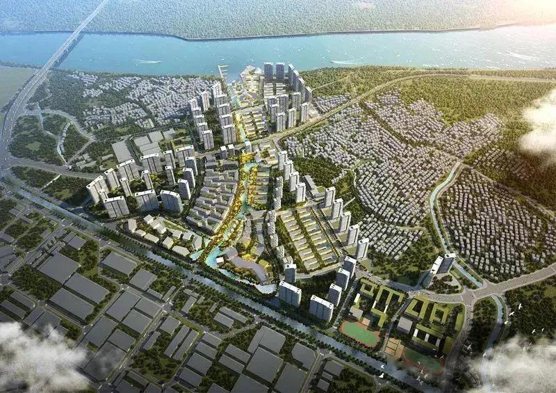 滨水新城规划效果图