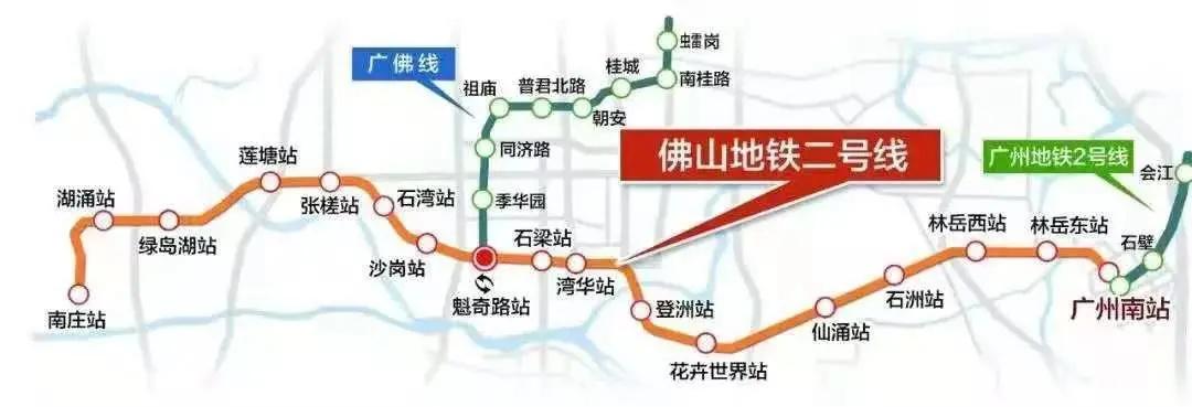 佛山地铁2号线路线合成图