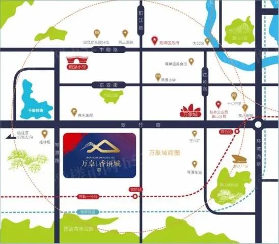 万卓香语城区位图