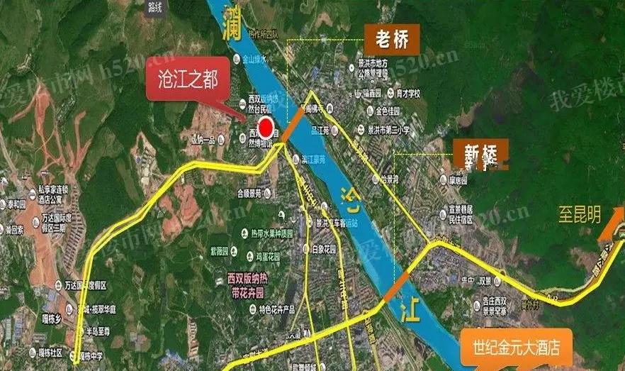 沧江之都南岸区位图