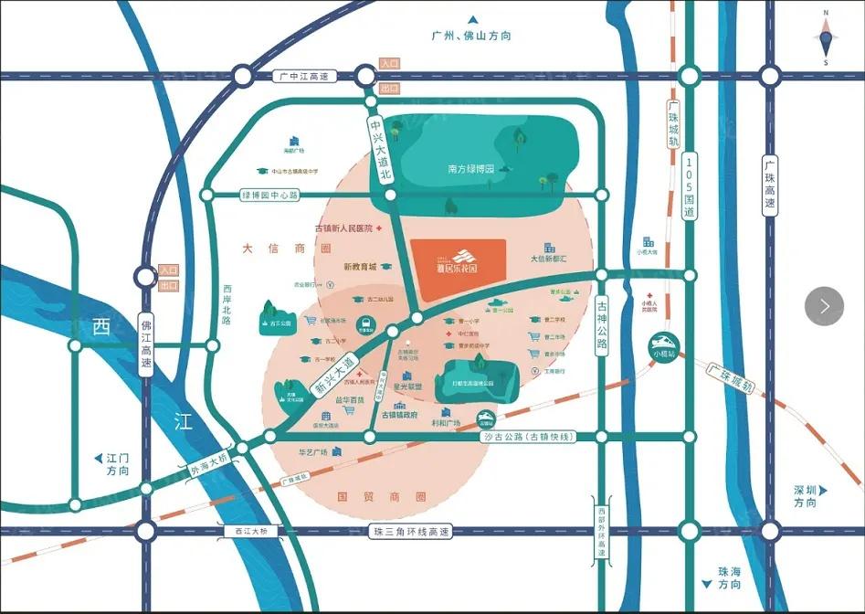 雅居乐花园区位图