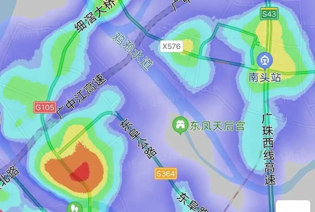 东凤南头热力分布图