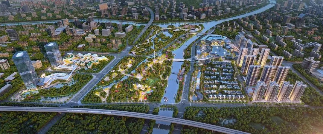 中山华侨城欢乐海岸鸟瞰图