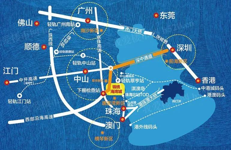 中山锦绣海湾城区位图