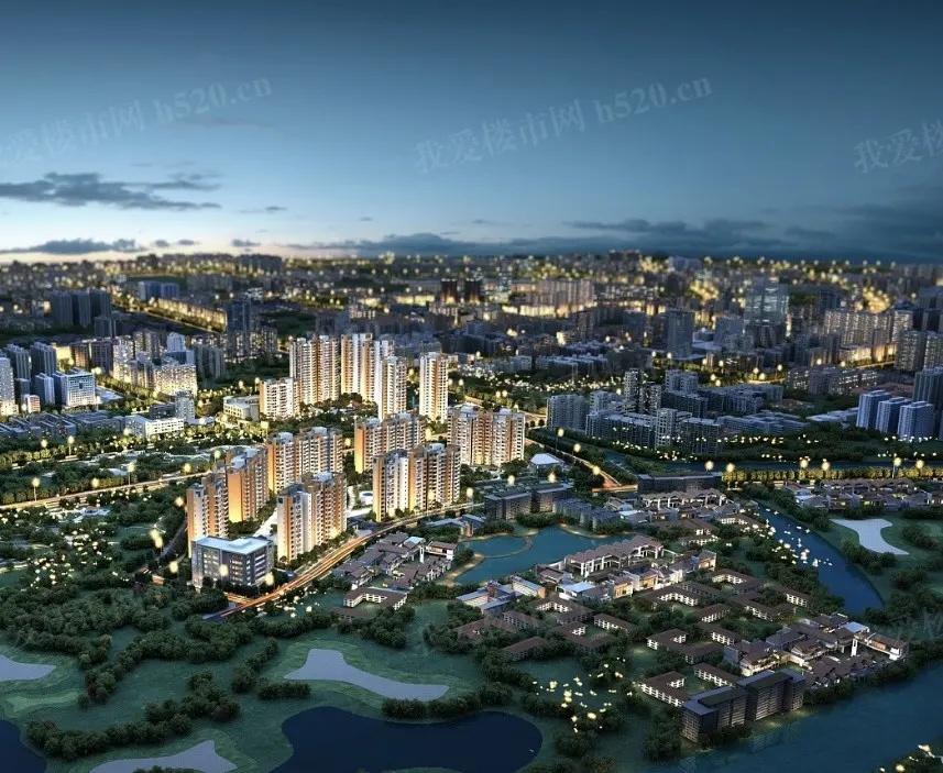 雅居乐锦城鸟瞰图
