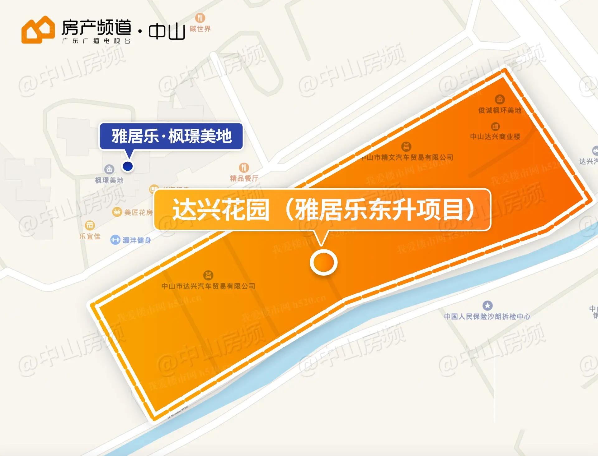 东升达兴代建项目区位图