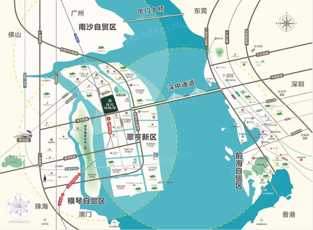 恒大新楼盘恒大·悦珑湾区位图