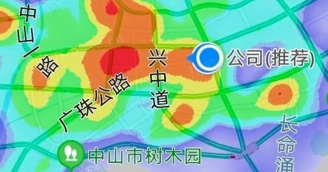 东区百度地图热力图