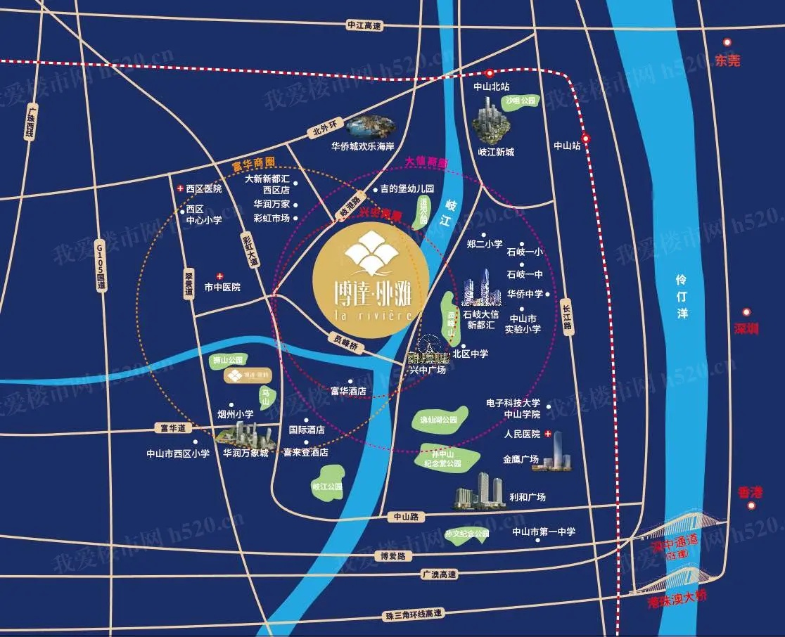 博达外滩区位图