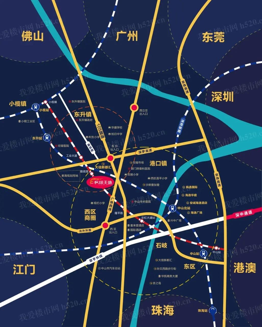 雅居乐枫璟美地区位图