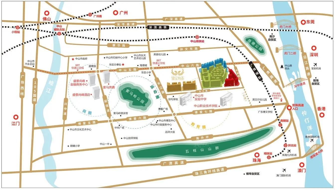 德宝怡高区位图